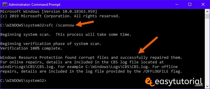 Fix Corrupt Windows 10 Files 1 Sfc Scannow