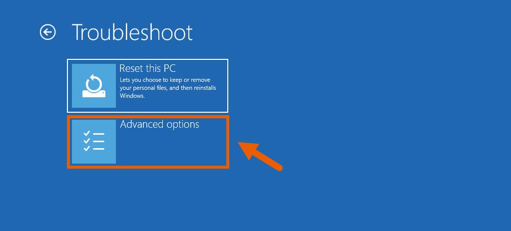 Fix Corrupt Windows 10 Files 7 Advanced Options
