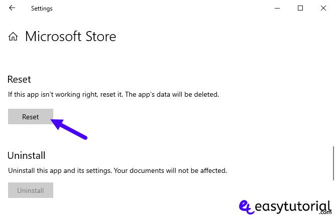 Fix Repair Fixed Solved Microsoft Store Windows 10 10 Reset Microsoft Store