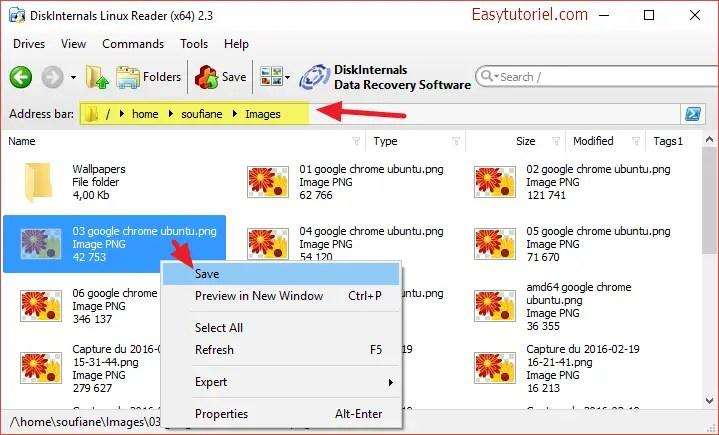 save image linux reader