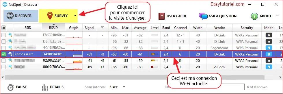 02 netspot decouvrir connexions wi-fi sans fil