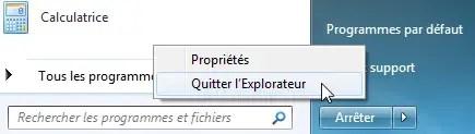 quitter explorateur windows