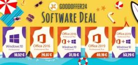 GoodOffer24 VENTES D'ÉTÉ – jusqu'à 18% de réduction sur tous les logiciels !