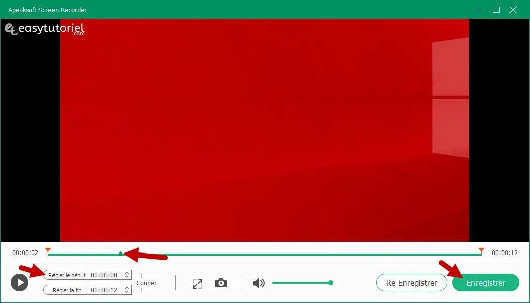 Apeaksoft Screen Recorder Capture Ecran Windows 10 Tutoriel 7