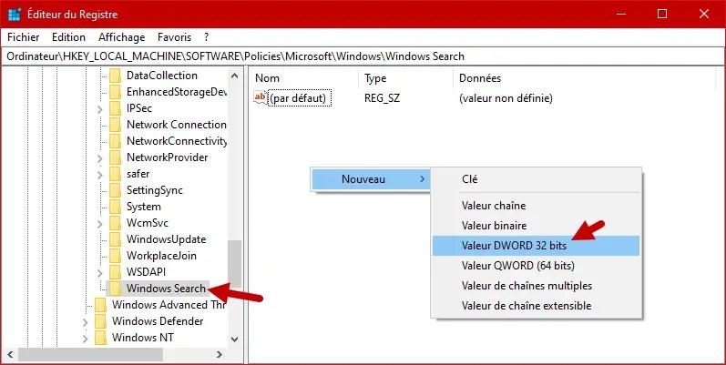 Desactiver Cortana Windows 10 9