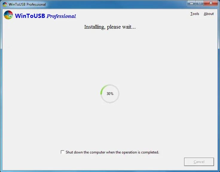 Windows PE inicializável USB Creator