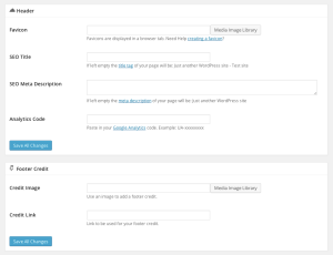 Coming Soon Pro Settings Header and Footer