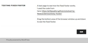 Fixed Footer TwentySeventeen