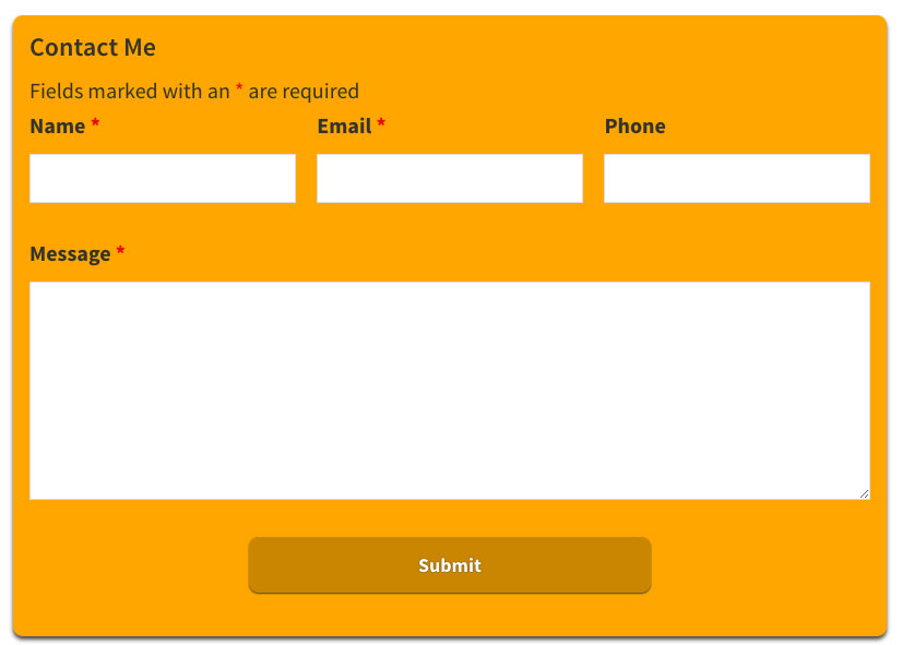 Styling a Ninja Forms contact form