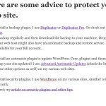 Protecting your web site from malware