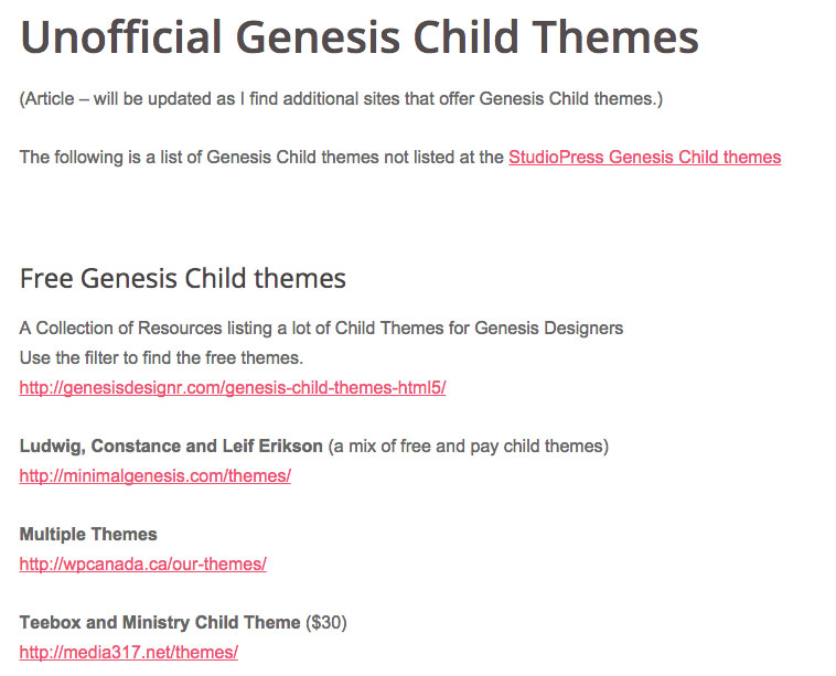 Unofficial-Genesis-Child-Themes