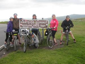 Hartside Summit - the top of the biggest climb