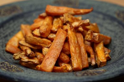 Sweet Potato Chips (Roasted or Fried) – Gluten Free, Wheat Free, Dairy Free, Egg Free, Nut Free, Vegan, Paleo