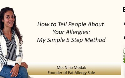 EAS022: How To Tell People About Your Allergies-My Simple 5 Step Method [LIVE]