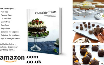Recipe book GIVEAWAY – Chocolate Treats free from the top 14 allergens!! Ends Sunday!