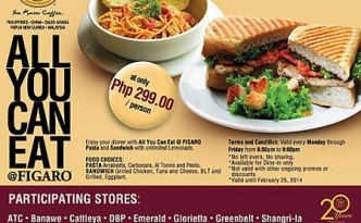 Figaro Eat All You Can Promo 2014