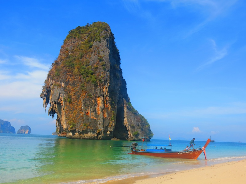 Rock at Phra Nang Beach in Krabi