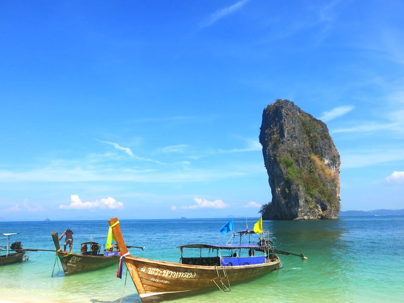 Koh Poda Island Longtail Boats