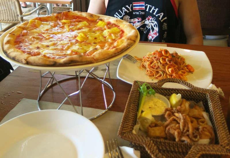 Pizza, pasta, and squids
