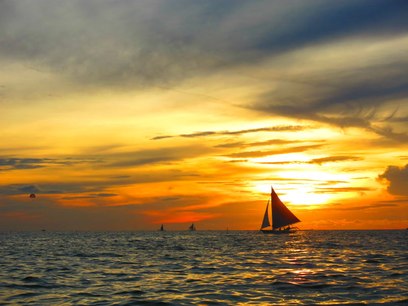 Gorgeous Boracay sunset viewed from Paraw