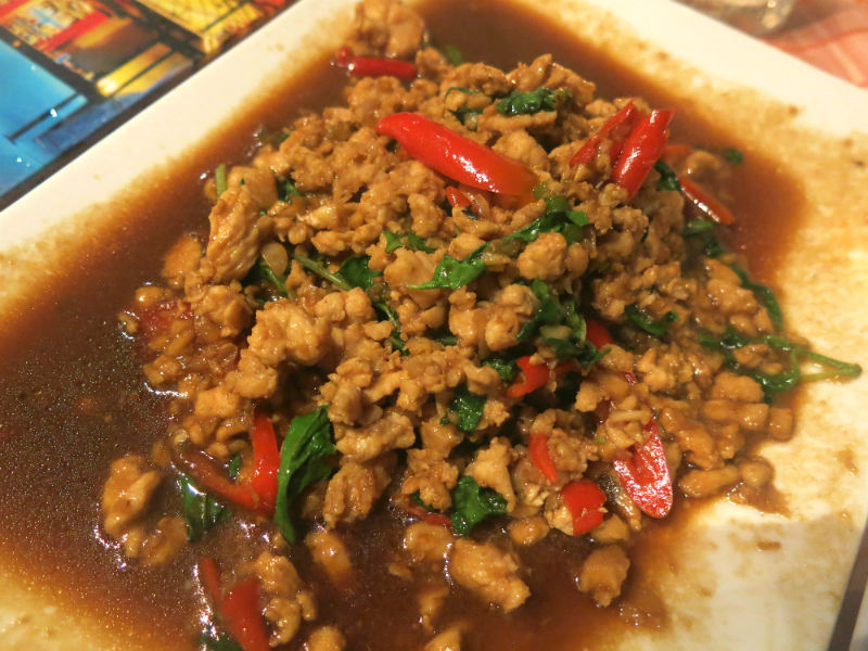 Krabi The Hilltop Stir Fried Pork with Basil Leaves