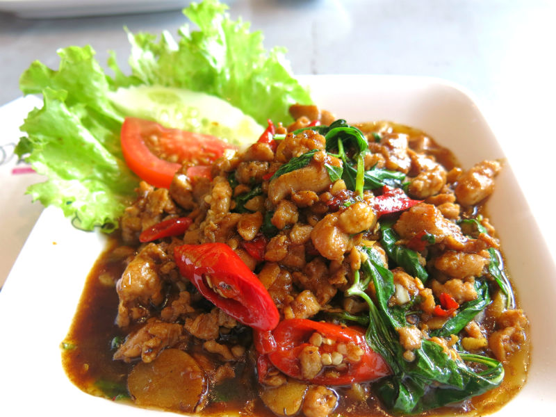 Porn's Stir-Fried Minced Pork with Basil Leaves