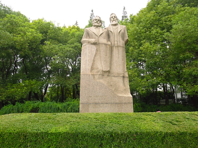 Marx Engel Statue
