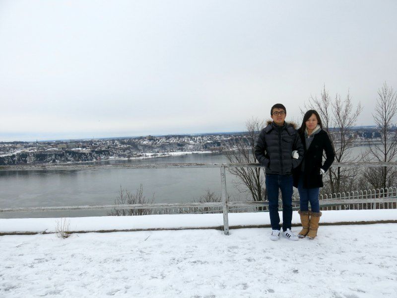 Couple in front of St Lawrence River