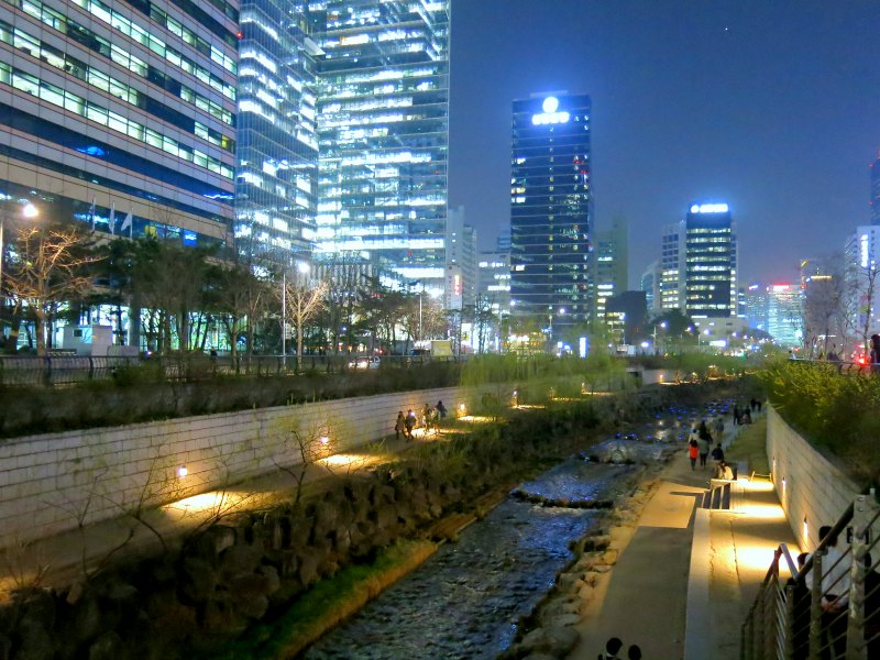 Cheonggyecheon Stream Staircase