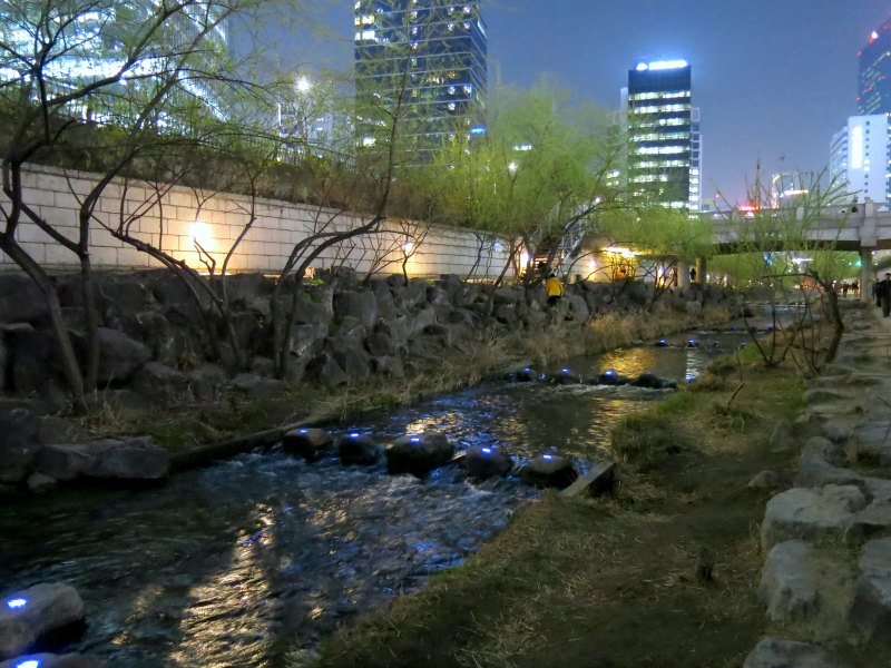 Cheonggyecheong Stream beautiful landscape