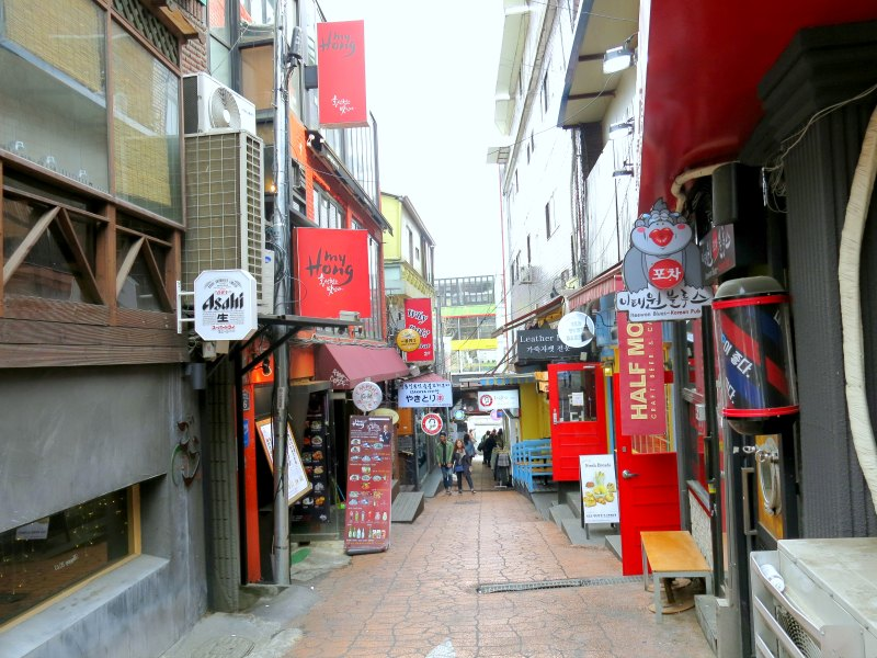International Food Street behind Hotel Hamilton Itaewon