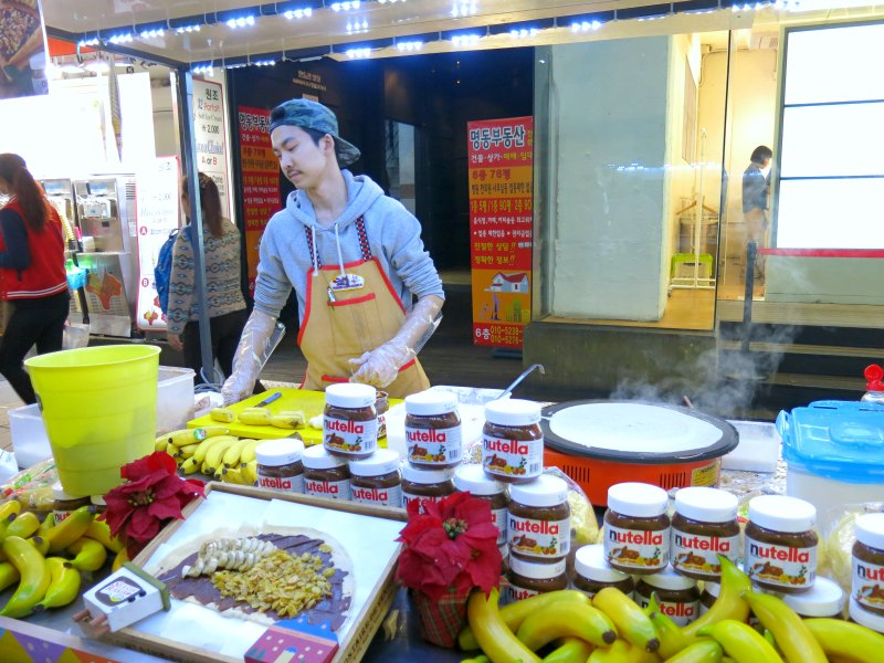 Nutella Crepes at Myeongdong Seoul
