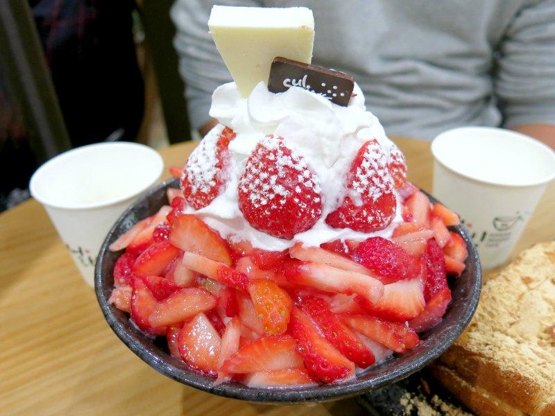 Sulbing Premium Strawberry Snowflake Sherbet Myeongdong