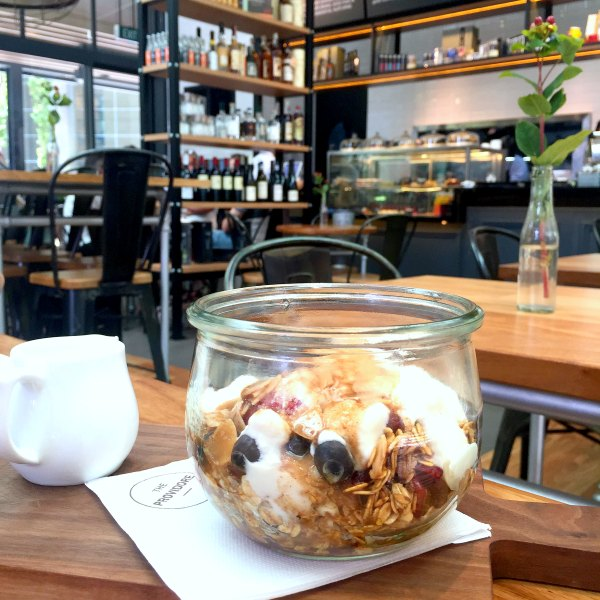 Organic Muesli Parfait on Table