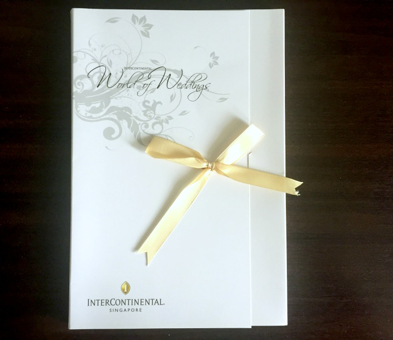 InterContinental Singapore Wedding Brochure