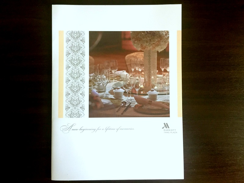 Singapore Marriott Tang Plaza Hotel Wedding Brochure