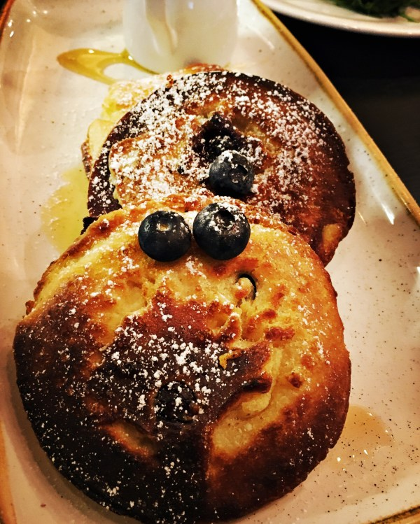 American style fluffy Blueberry Pancakes