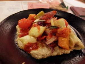 Winter Veg Hummus at Wahaca