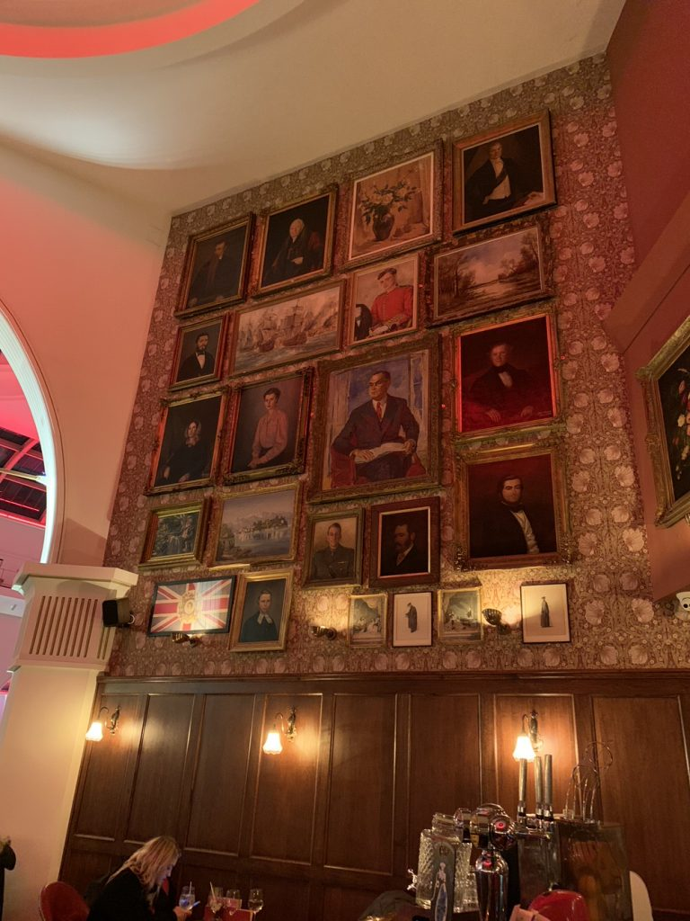 The wall of paintings
