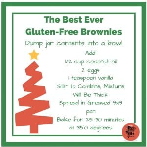 Best Ever Gluten-Free Brownies Gift Tag