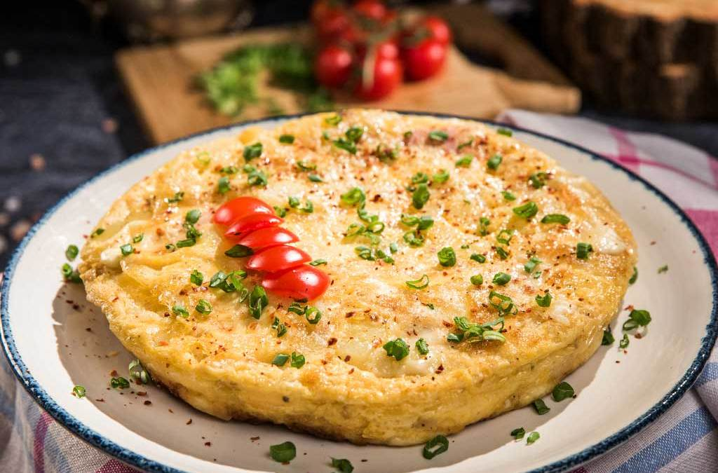 Cheesy Barley Frittata