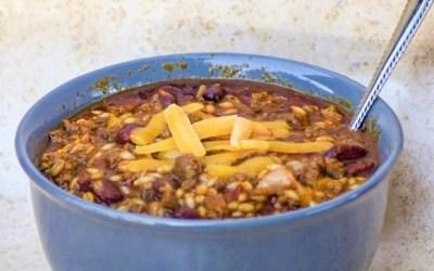 Instant Pot Beef & Barley Casserole Chili