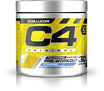 Best Pre Workout - Cellucor C4 Original Pre Workout Powder Energy Drink w/ Creatine, Nitric Oxide & Beta Alanine, Icy Blue Razz, 30 Servings