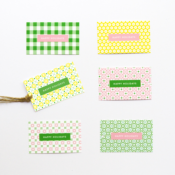 Christmas Tags from Eat Drink Chic