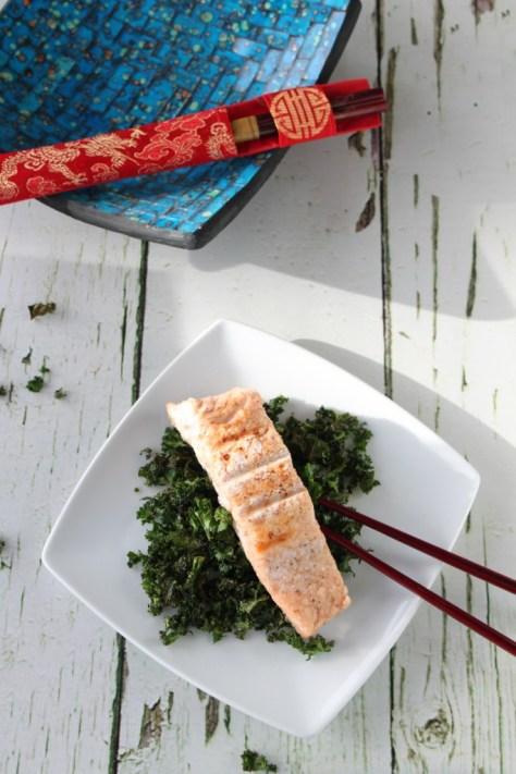 Chinese Salmon & Crispy Kale