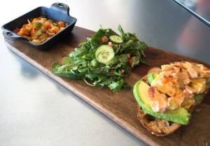 Salmon with Avocado Toast