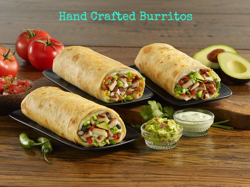 hand crafter burritos