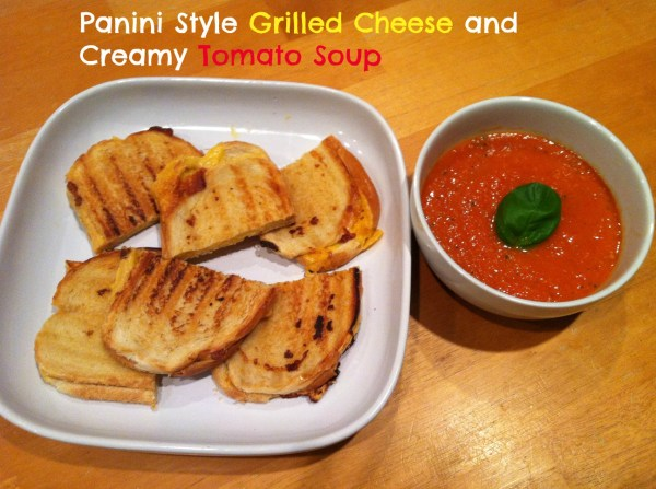 creamy tomato soup and grilled cheese sandwich
