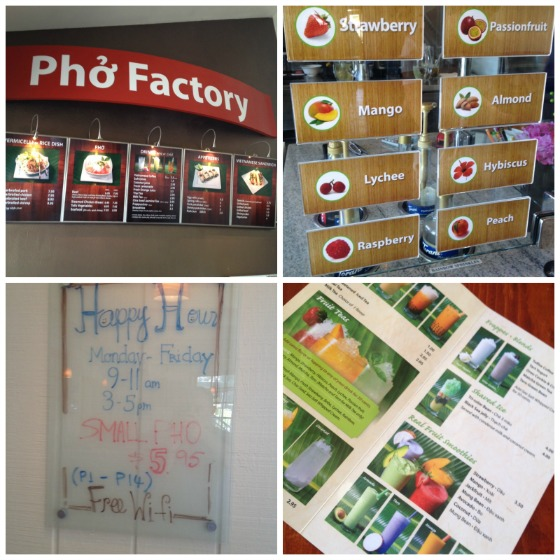 Vietnamese Restaurant Menu Examples