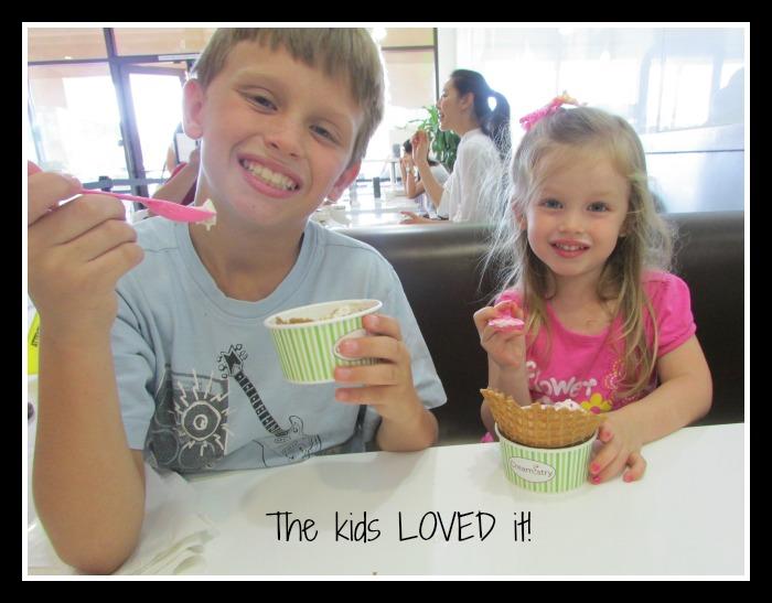 Creamistry kids enjoying